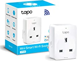 TP-Link Tapo Smart Plug Wi-Fi Outlet, Works with Amazon Alexa (Echo and Echo Dot), Google Home, Wireless Smart Socket, Device