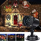 Vokul Moves Automatically LED Landscape Spotlight Projector Light, Indoor/Outdoor Garden Landscape Lights, Wall Decoration Light, Party Light ,Chirstmats Light with 12pcs Switchable Theme Flakes