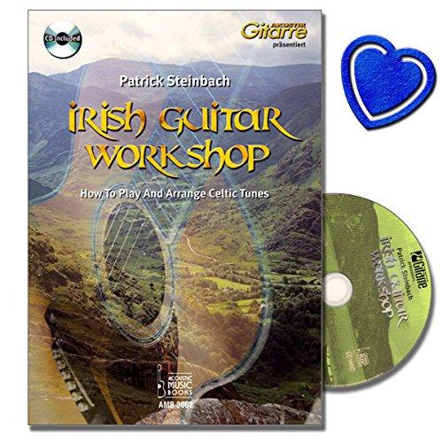 'Mondland Verlag Irish Guitar Workshop How to Play and arrange Celtic Tunes-Le entrée idéale dans la guitare Notes de musique et tablatures Irlandaise avec CD, cœur Note Pince par  Acoustic Music