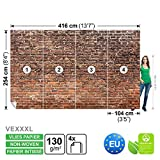 FORWALL Vlies Fototapete Tapete Vliestapete Dekoshop Backstein Mauer ADW1030VEXXXL (416cm x 254cm) Photo Wallpaper Mural