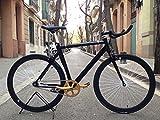Fahrrad fixie2-golden-black- monomarcha