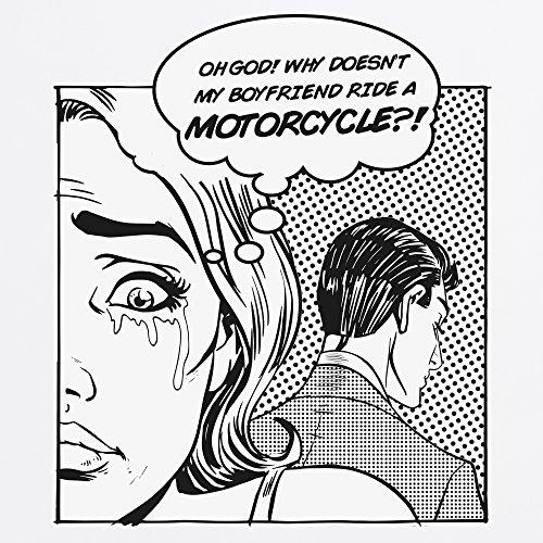 Boyfriend Motorcycle T-Shirt, Herren Wei