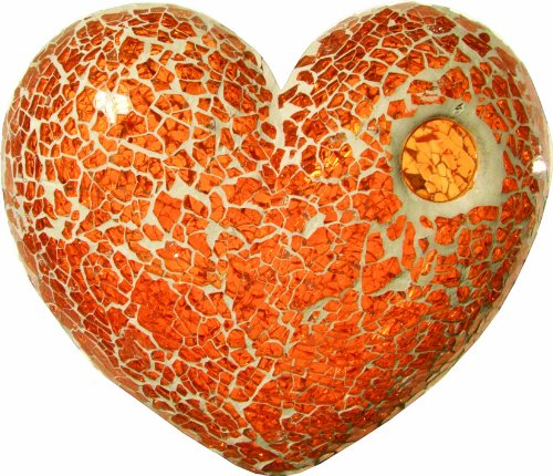 Safety Mosaik Platte Eisglas Orange 15x20cm