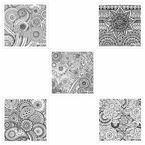 BMC 10pc Super Mignon Abstract Sur le thème carré Vernis À Ongles Art Estampage Plaque: Shangri-La Jeu De Maître