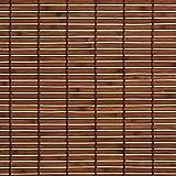 Easy-Shadow Hochwertiges Holzrollo Holz-Rollo mit Seitenzug 80 x 170 cm / 80x170 cm in der Farbe braun - Bambus Holz Rollo für Fenster und Tür - Bedienseite rechts