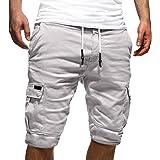 Tomwell Hombre Bermuda Cortos Pantalones Deporte Shorts Moda Pantalones Cortos Moda Color Sólido Shorts