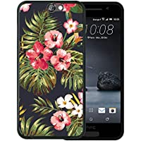 Funda HTC One A9, WoowCase [ HTC One A9 ] Funda Silicona Gel Flexible Flores Tropicales 1, Carcasa Case TPU Silicona - Negro
