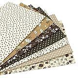7 Stück 49cm * 49cm brauner Baumwollstoff,patchwork