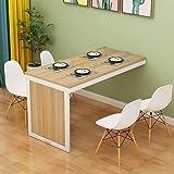 Table de salle à manger pliante fixée au mur Table convertible en MDF Bureau de bureau à domicile multifonctionnel Bureau mur