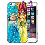 Custodie iPhone per Dragon Ball Z Super GT Case Cover - Design Ultimi Unique - Tutti i modelli iPhone - Brand New - Alta Qualita - Tournament Of Power - Goku Black Rose - Goku Blue - Gohan - Jiren - Vegeta Blue - DBS - DBZ - DBGT - Molti Disegni - MIM Global (iPhone 6 Plus/6s Plus, Ultimate Fusions 2)