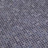 PVC Bodenbelag Gerflor Quatro Mozaik Azur Blau 2m Mosaikdekor, Größe:1.50 x 2.00 m