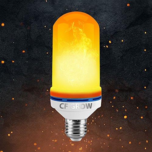 27 1400K Flamme Effekt Flackerlicht Glühbirne Feuer Birne Leuchtmittel LED Bulb Kreative Lichter Dekorative Leuchte für Hause, Garten, Bar, Party, Weihnachten Dekoration [Energiekl (Alle White Party Dekorationen)