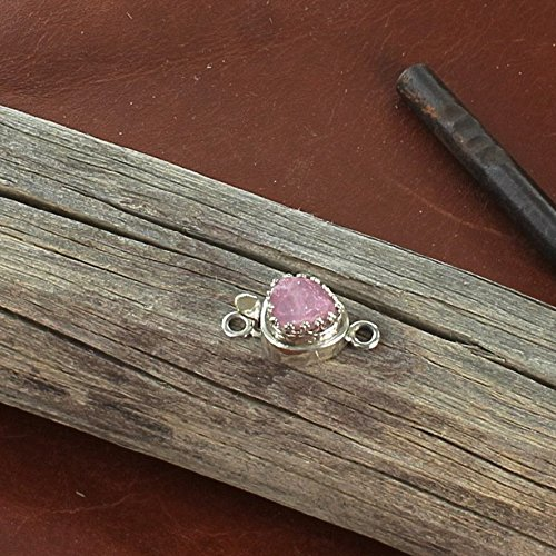 SPINEL CHIUSURA Raw Crystal Pink colore Sterling