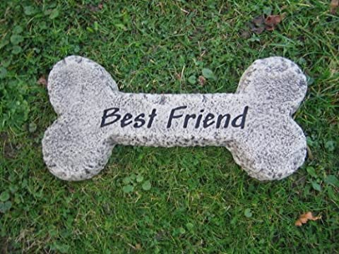 Large bone dog memorial stone garden ornament || || See my full shopfront with over 150 items available >> click the blue neilsstonecraft link