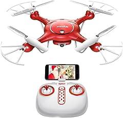 Hobbitos Syma X5UW Wi-Fi FPV HD Camera Drone with Altitude Hold Mode App Control Drone