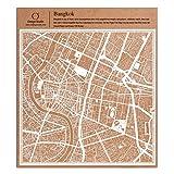Bangkok Scherenschnitt Karte, Weiß 30x30 cm Papierkunst