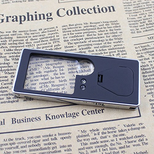 soxid (TM) Lupe 10X Lupe Brillen lupas LED Mini Pen Lupen Lesung Lente Di ingrandimento vergrootglas-Anaglyphenbrille, für dritte Hand
