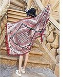 MONEYY National Wind dame châle serviette de plage Sun visor écharpe de climatiseur à double but, une serviette