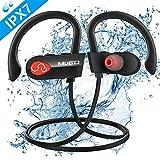 Bluetooth Kopfhörer, IPX7 Wasserdicht Sport Kopfhörer Kabellos, Rich Bass, 10 Stunden Spielzeit, Hi-Fi-Sound Bluetooth Kopfhörer In Ear Sportkopfhörer mit Mikrofon für Laufen, Joggen usw