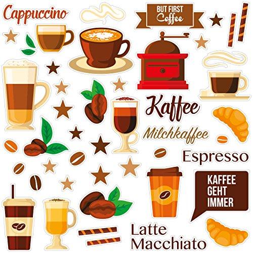 Wandkings Fliesensticker - Wähle ein Motiv - Coffee Love - Sticker für z.B. Fliesen, Fliesenspiegel in Küche & mehr Küche Sticker