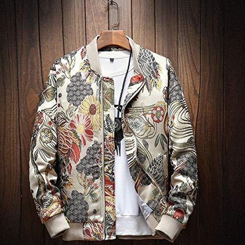 WYLLA Otoño Invierno Casual Chaqueta Hombre Abrigo Bordado Japonés Slim Fit Bomber Jacket Hombre Windbreaker...