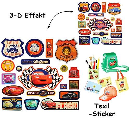 alles-meine.de GmbH 57 tlg. Set _ 3-D Effekt _ Aufkleber / Sticker -  Disney Cars Lightning McQue..