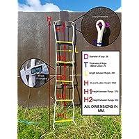 5escalones escalera de cuerda (yates, barcos, árboles, de emergencia)