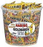 Haribo Ositos Dorados, Gominolas de Fruta, 100 Bolsitas, Tarro de 980 g
