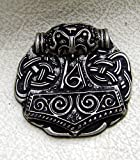 Gürteltasche Nordgermanischer Thorshammer Leder Farbe Braun -