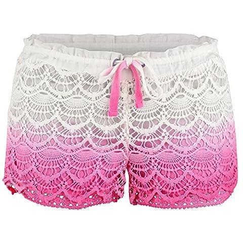 Urban Beach Damen Avalon Deco Hot Pants 16 rose