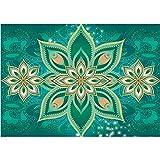 Vlies Fototapete PREMIUM PLUS Wand Foto Tapete Wand Bild Vliestapete - Kunst Blumen Blüten Ornamente Schnörkel - no. 2637, Größe:254x184cm Blueback Papier
