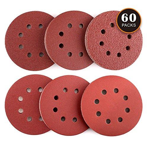 Dischi Abrasivi 60 Pezzi Tacklife ASD03C Carte Abrasive per Levigatrice 10 x 40/60/80/120/180/240 Graniglie Ideale per Levigatura/Lucidatura/Spolveratura