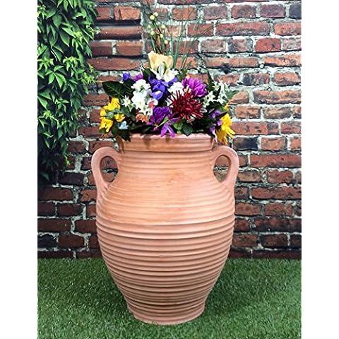 Gran jardín Athenian jarra maceta terracota efecto