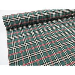 Metraje 0,50 mts tejido cuadros Ref. Escocés color Verde, con ancho 2,80 mts.