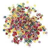 1000PCS sortiert Fimo Obst 3D Muster Scheiben ideal für Anhaften, schlamm, Nail Art, DIY Basteln Dekoration von kinxor