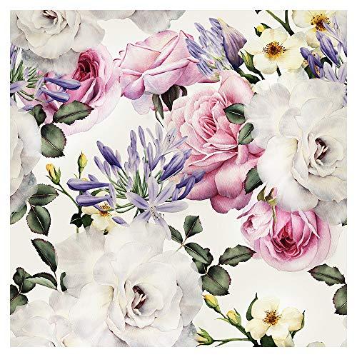 *murando – Tapete selbstklebend 10m Wandtattoo dekorative Möbelfolie Dekorfolie Fotofolie Panel Wandaufkleber Wandposter Wandsticker – Blumen Rosen f-B-0263-j-b*