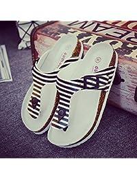 ZHANGRONG-- Sandalias impermeables Zapatillas de moda de verano Zapatillas de pareja Zapatillas de dedo de gran tamaño Zapatillas de gran tamaño ( Color : B , Tamaño : 34 )