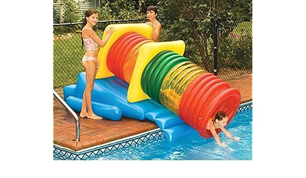 Wasser Sport Deluxe Schwimmen Pool Aufblasbar Wasser Park Slide Labyrinth  Play System: Amazon.de: Garten