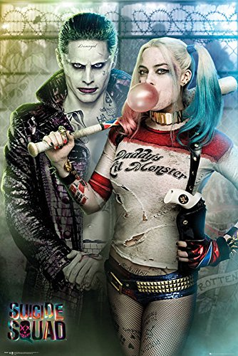 Squad-Joker and Harley Quinn-Druck Plakat Film Poster-Größe 61x91,5 cm, Papier, bunt, 91.5 x 61 x 0.14 cm ()