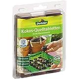 Dehner Kokos-Quelltabletten mit Nährstoff-Mix, zur Anzucht von Stecklingen, Sämlingen und Saaten, Ø 38 mm, 50 Stück