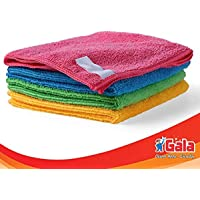 Gala Microfiber Cleaning Cloth - 30 cm x 30 cm - 288 gsm, (Multicolor, Pack of 4)