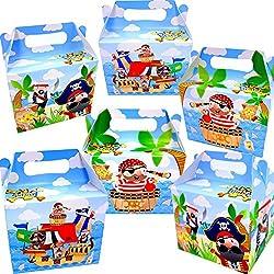 Cajas pirata de cumpleaños, 6 ud.