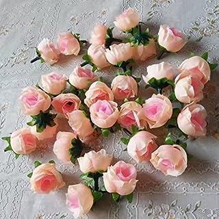 RICISUNG 50pcs Artificial Roses Flower Heads 3cm Wedding Decoration