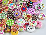 80 x 15mm Round Wooden Buttons