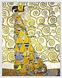 1art1 Gustav Klimt Poster Kunstdruck und Kunststoff-Rahmen - Die Erwartung, 1905-1909 (Detail) (50 x 40cm)