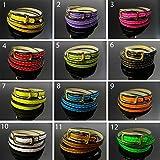 Best GENERIC Lilacs - 59cm Triple Neon Coloured Bracelet PU Wrap Bracelet Review