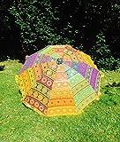 Bazzaree Garten-Sonnenschirm handgefertigt Bestickt indischen Outdoor Sonne Schatten Terrasse Regenschirm 182,9cm.