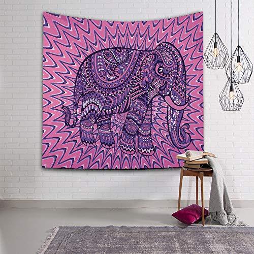 ZYBC Tapicería Elefante Tapiz Hippie Mandala Bohemio Playa Dormitorio Decoración De La Pared (HMKCEFT4,S)