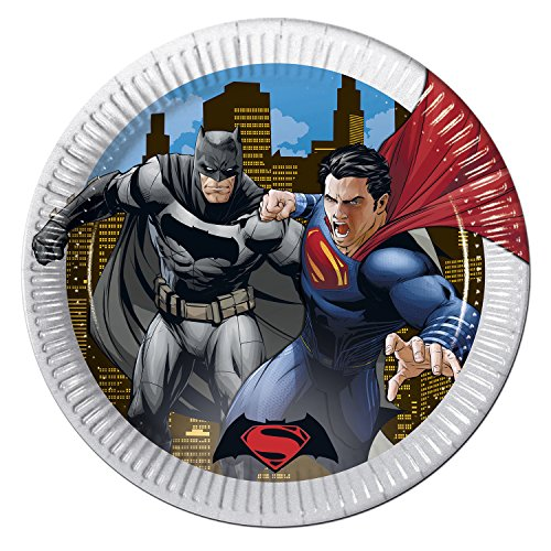 23 cm Batman vs Superman Platos Fiesta, pack de 8