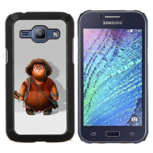 - comic cartoon character boy caveman/ Fest Snap On Handy Tasche - Cao - For Samsung Galaxy J1 J100 J100H